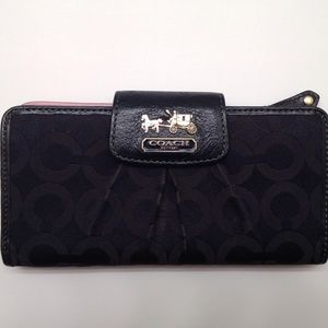 COACH MADISON CARRIAGE wallet jacquard leather